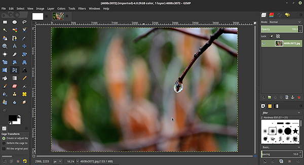 gimp photo edit software