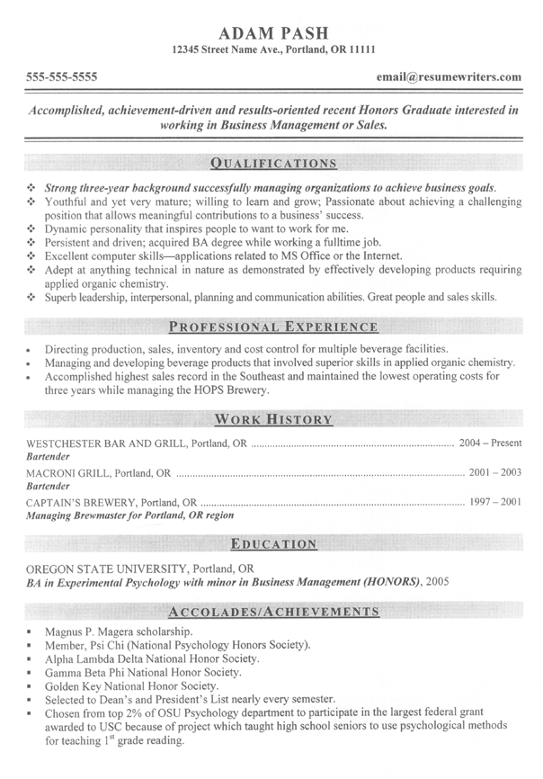 Qualifications in resume