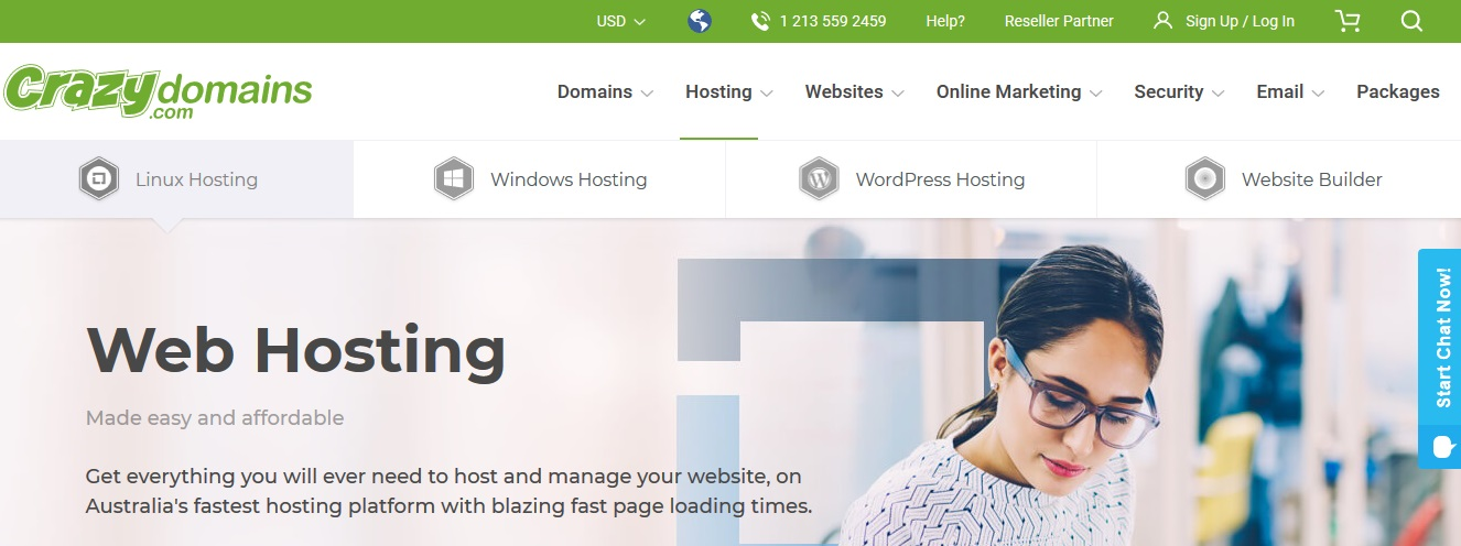 Crazy Domains Hosting